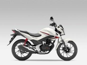 Honda CB125F valencia blanca