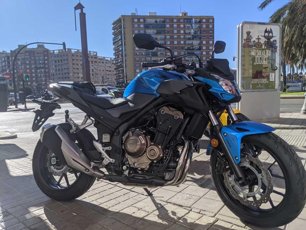 honda cb500f azul