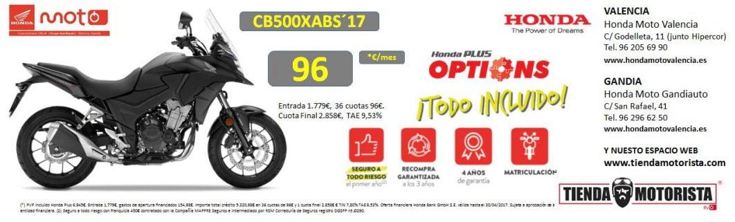Honda CB500X valencia alicante 2017 ofertas precios accesorios características colores opiniones pruebas rutas nueva ocasión