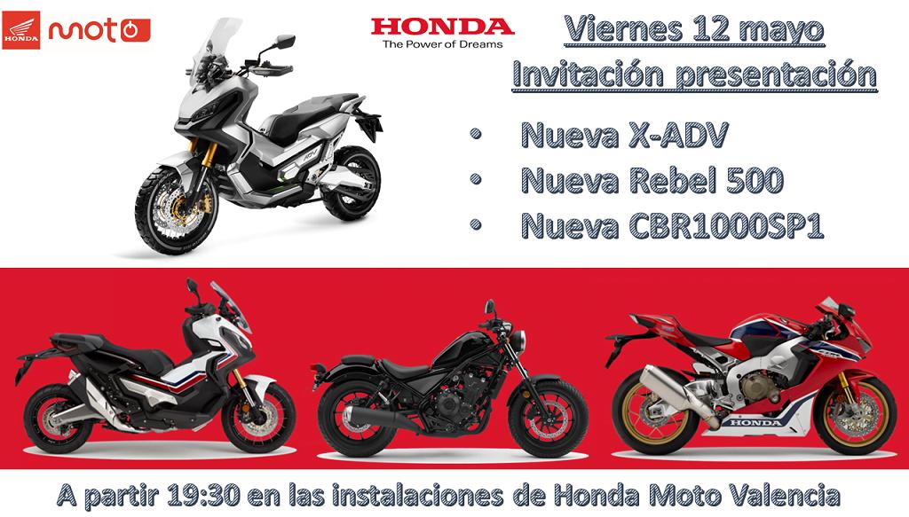 Presentación de la nueva X-ADV, Rebel 500 Y CBR1000SP1 Honda Moto Valencia CRT